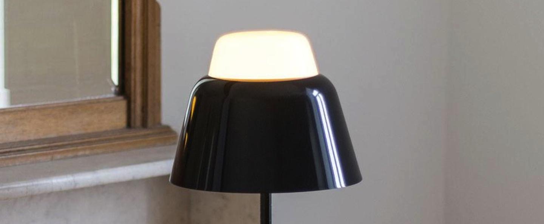 Lampe a poser modu noir h47cm o21cm teo normal