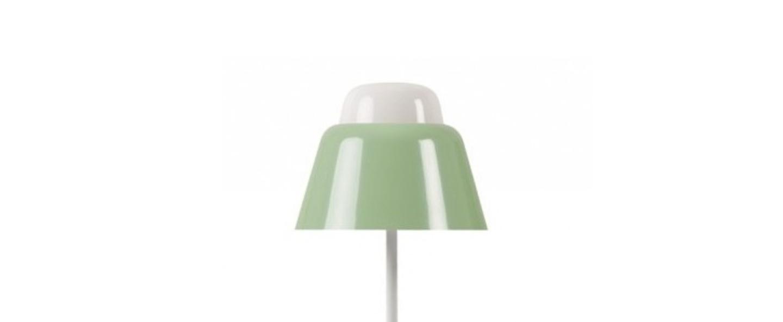 Lampe a poser modu vert clair h47cm o21cm teo normal
