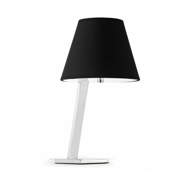 Lampe a poser moma 2 noir l23cm h44cm faro normal