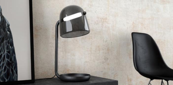 Lampe a poser mona small noir led o29cm h51 5cm brokis normal