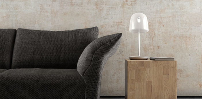 Lampe a poser mona small opale led o29cm h51 5cm brokis normal
