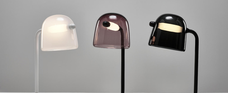 Lampe a poser mona small violet noir led o29cm h51 5cm brokis normal