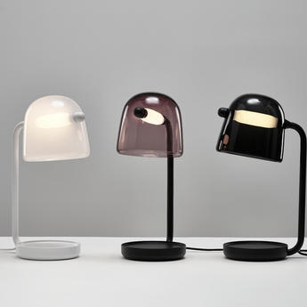 Lampe a poser mona small violet noir led o29cm h51 5cm brokis normal