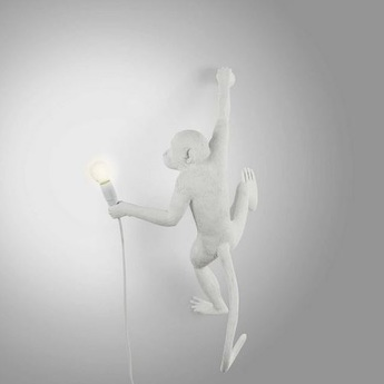 Lampe a poser monkey hanging right blanc l37cm h76 5cm seletti normal