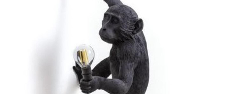 Lampe a poser monkey hanging right noir l37cm h75cm seletti normal