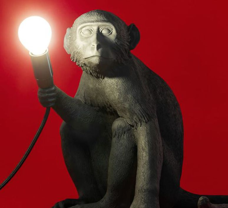 Monkey sitting marcantonio raimondi malerba seletti 14882 luminaire lighting design signed 34097 product