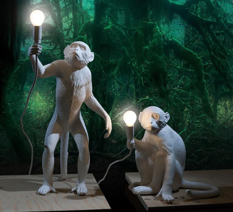 Monkey standing marcantonio raimondi malerba seletti 14880 luminaire lighting design signed 28303 product