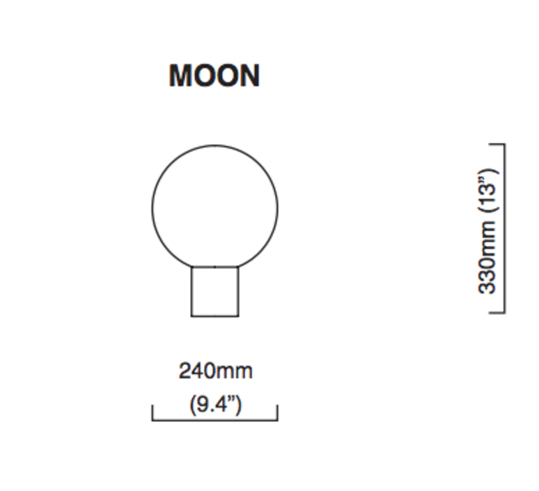 Moon chris et clare turner lampe a poser table lamp  cto lighting cto 03 050 0001  design signed nedgis 121299 product