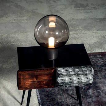 Lampe a poser moon bronze o24cm h33cm cto lighting normal