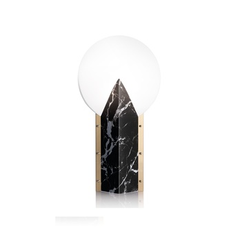 Lampe a poser moon noir l30cm h57cm slamp normal