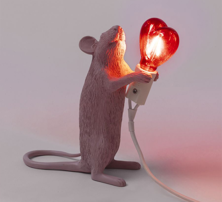 Mouse lamp step standing love edition marcantonio raimondi malerba lampe a poser table lamp  seletti 14884sv  design signed nedgis 97808 product