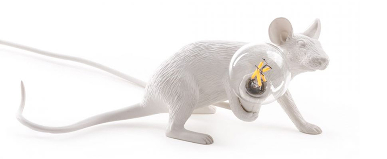 Lampe a poser mouse lie down blanc led cm h14 5cm seletti normal