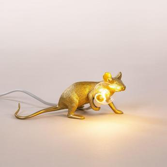 Lampe a poser mouse lie downor l8 1cm h21cm seletti normal