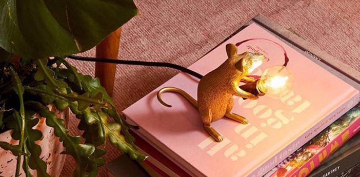 Lampe a poser mouse sitting or l12 5cm h15cm seletti normal