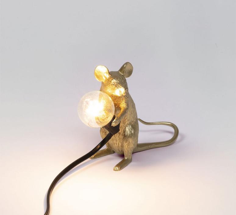 Mouse sitting marcantonio raimondi malerba lampe a poser table lamp  seletti 14942 gld  design signed nedgis 97857 product