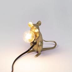Mouse sitting marcantonio raimondi malerba lampe a poser table lamp  seletti 14942 gld  design signed nedgis 97857 thumb