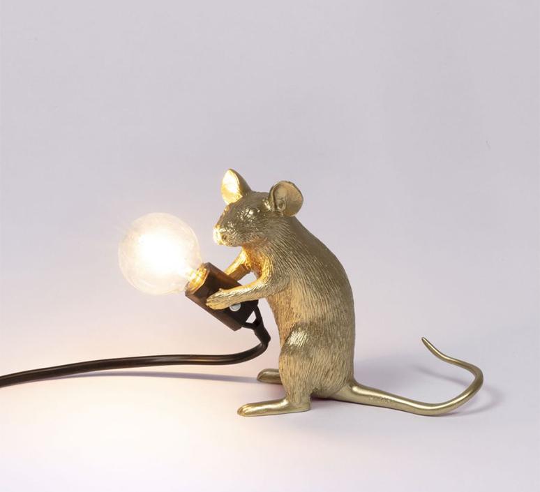 Mouse sitting marcantonio raimondi malerba lampe a poser table lamp  seletti 14942 gld  design signed nedgis 97858 product