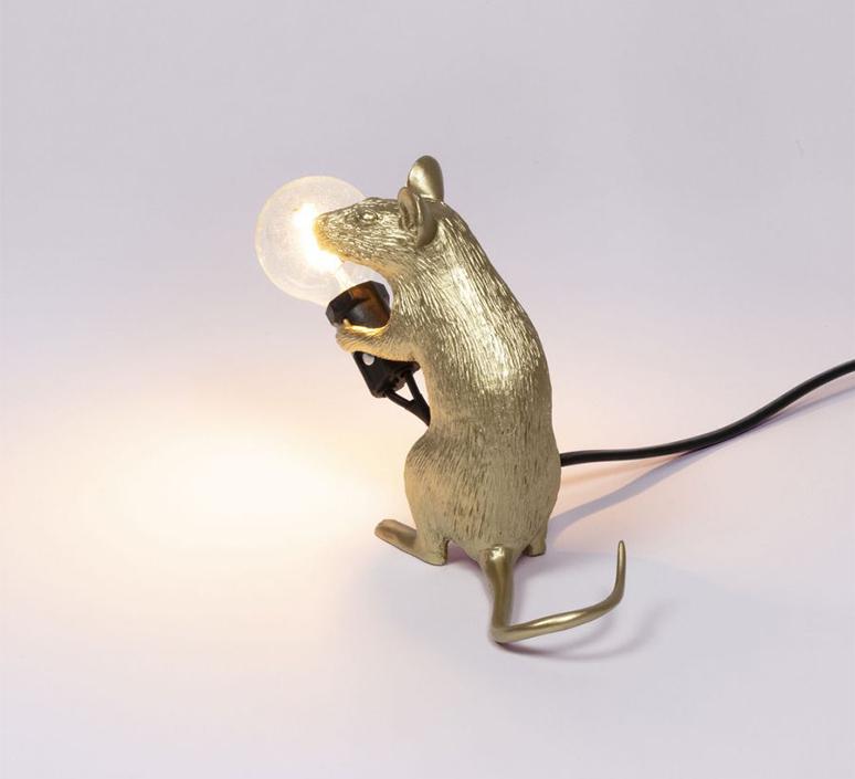 Mouse sitting marcantonio raimondi malerba lampe a poser table lamp  seletti 14942 gld  design signed nedgis 97859 product