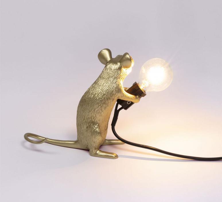 Mouse sitting marcantonio raimondi malerba lampe a poser table lamp  seletti 14942 gld  design signed nedgis 97860 product