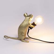 Mouse sitting marcantonio raimondi malerba lampe a poser table lamp  seletti 14942 gld  design signed nedgis 97860 thumb