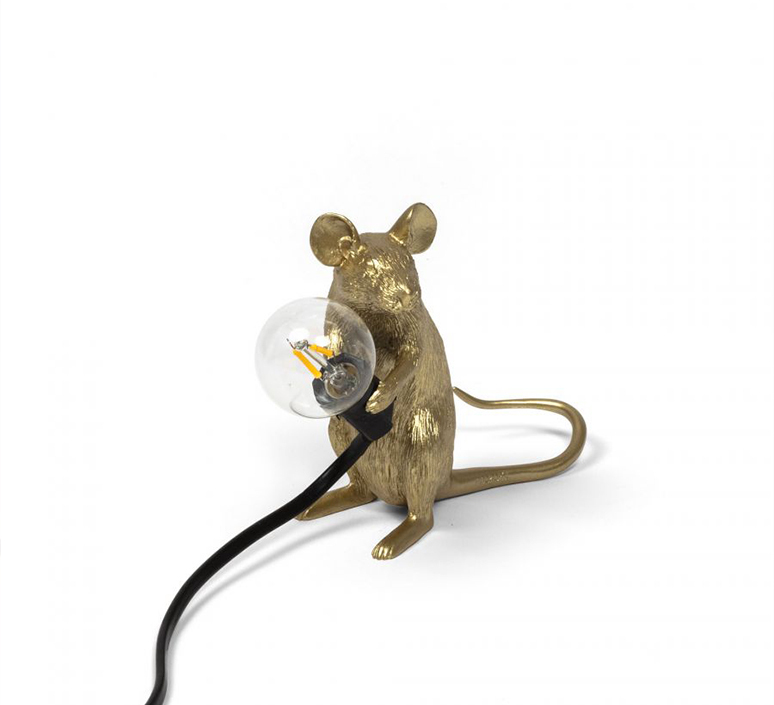 Mouse sitting marcantonio raimondi malerba lampe a poser table lamp  seletti 14942 gld  design signed nedgis 97861 product