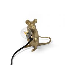 Mouse sitting marcantonio raimondi malerba lampe a poser table lamp  seletti 14942 gld  design signed nedgis 97861 thumb