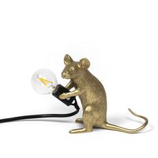 Mouse sitting marcantonio raimondi malerba lampe a poser table lamp  seletti 14942 gld  design signed nedgis 97862 thumb