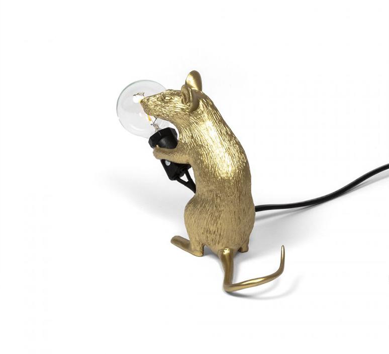 Mouse sitting marcantonio raimondi malerba lampe a poser table lamp  seletti 14942 gld  design signed nedgis 97863 product