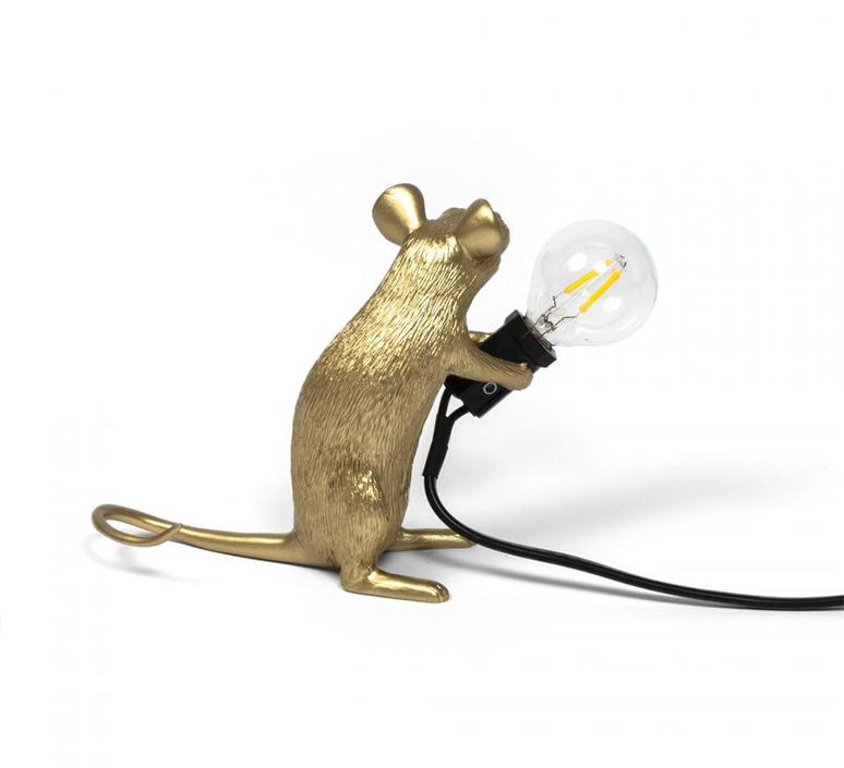 Mouse sitting marcantonio raimondi malerba lampe a poser table lamp  seletti 14942 gld  design signed nedgis 97864 product