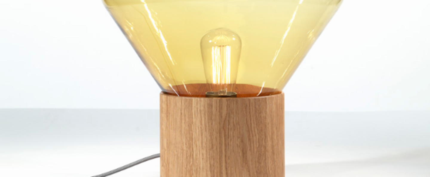 Lampe a poser muffins jaune o27 5cm brokis normal