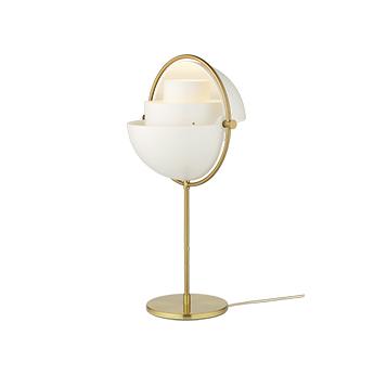 Lampe a poser multi lite laiton et blanc o25 5cm h50cm gubi normal