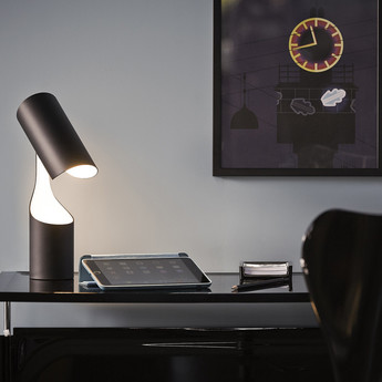 Lampe a poser mutatio noir led o8cm h30cm le klint normal