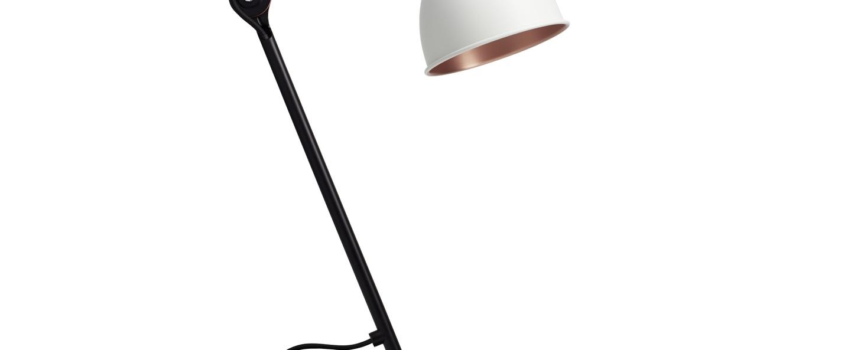 Lampe a poser n 205 blanc cuivre noir l14cm h59cm dcw editions paris normal