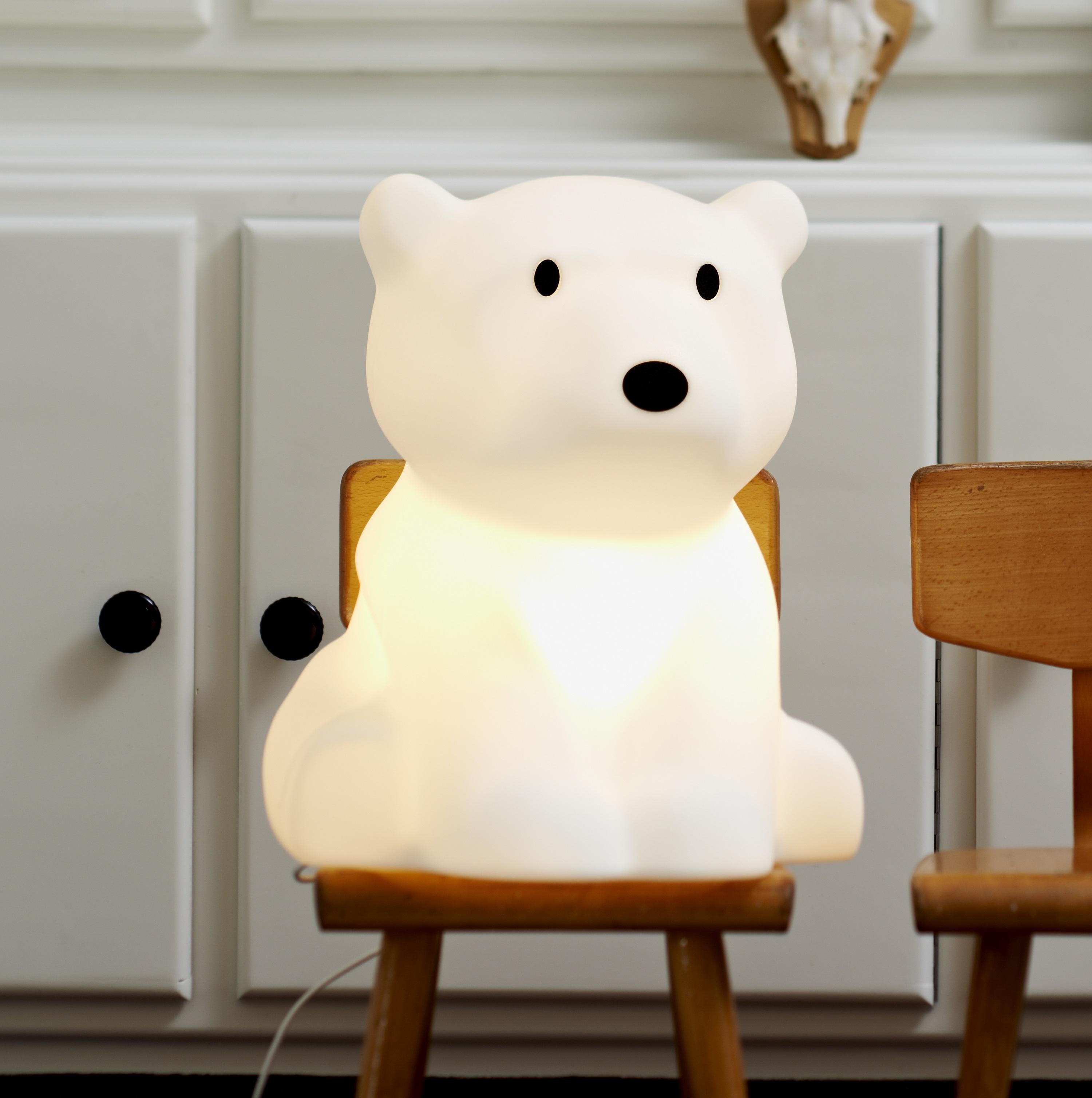 Lampe Ours Enfants Nanuk Blanc H41cm Mr Maria