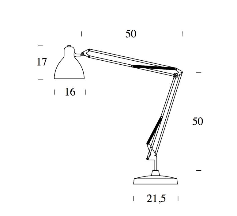 Naska 1 historical archive fontana arte lampe a poser table lamp  fontanaarte 8020cr 8100cr   design signed 39341 product