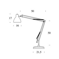 Naska 1 historical archive fontana arte lampe a poser table lamp  fontanaarte 8020cr 8100cr   design signed 39341 thumb