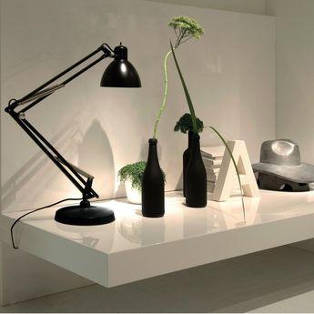 Lampe a poser naska 1 noir led l50cm h50cm fontana arte normal