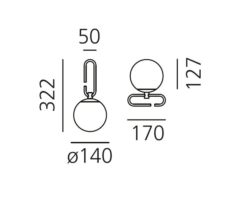 Nh neri et hu applique murale wall light  artemide 1277010a  design signed 72926 product
