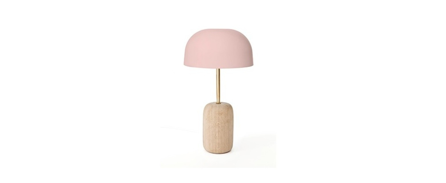 Lampe a poser nina rose h41cm harto normal