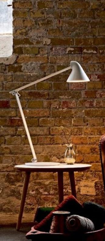 Lampe a poser njp blanc led l22cm h48cm louis poulsen normal