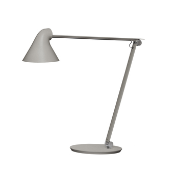 Lampe a poser njp gris clair led l22cm h48cm louis poulsen normal