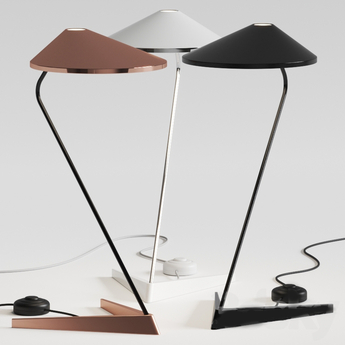 Lampe a poser non la t blanc brillant l26 5cm h47cm bover normal