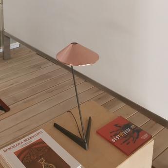 Lampe a poser non la t cuivre l26 5cm h47cm bover normal