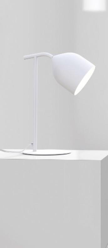 Lampe a poser odile blanc o20cm h55cm lumen center italia normal