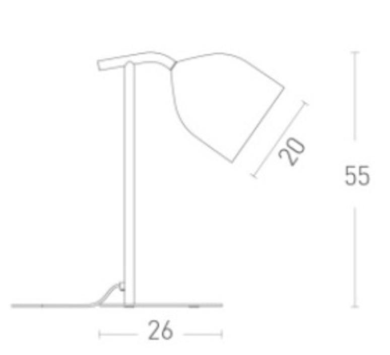 Odile paolo cappello lampe a poser table lamp  lumen center italia odi02105  design signed 52556 product