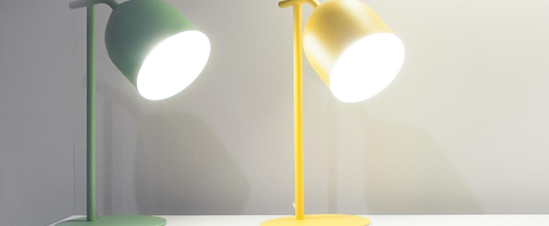 Lampe a poser odile jaune o20cm h55cm lumen center italia normal