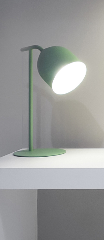 Lampe a poser odile vert o20cm h55cm lumen center italia normal