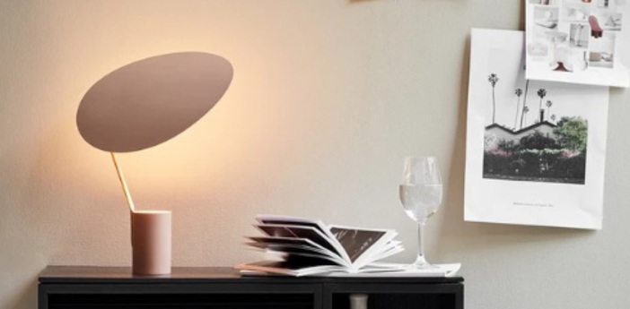 Lampe a poser ombre blanc o30cm h47cm northern normal