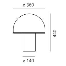 Alfa sergio mazza lampe a poser table lamp  artemide 0026010a  design signed nedgis 75712 thumb