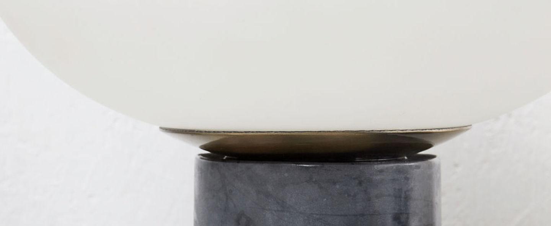 Lampe a poser opal noir et blanc cm h34cm house doctor normal